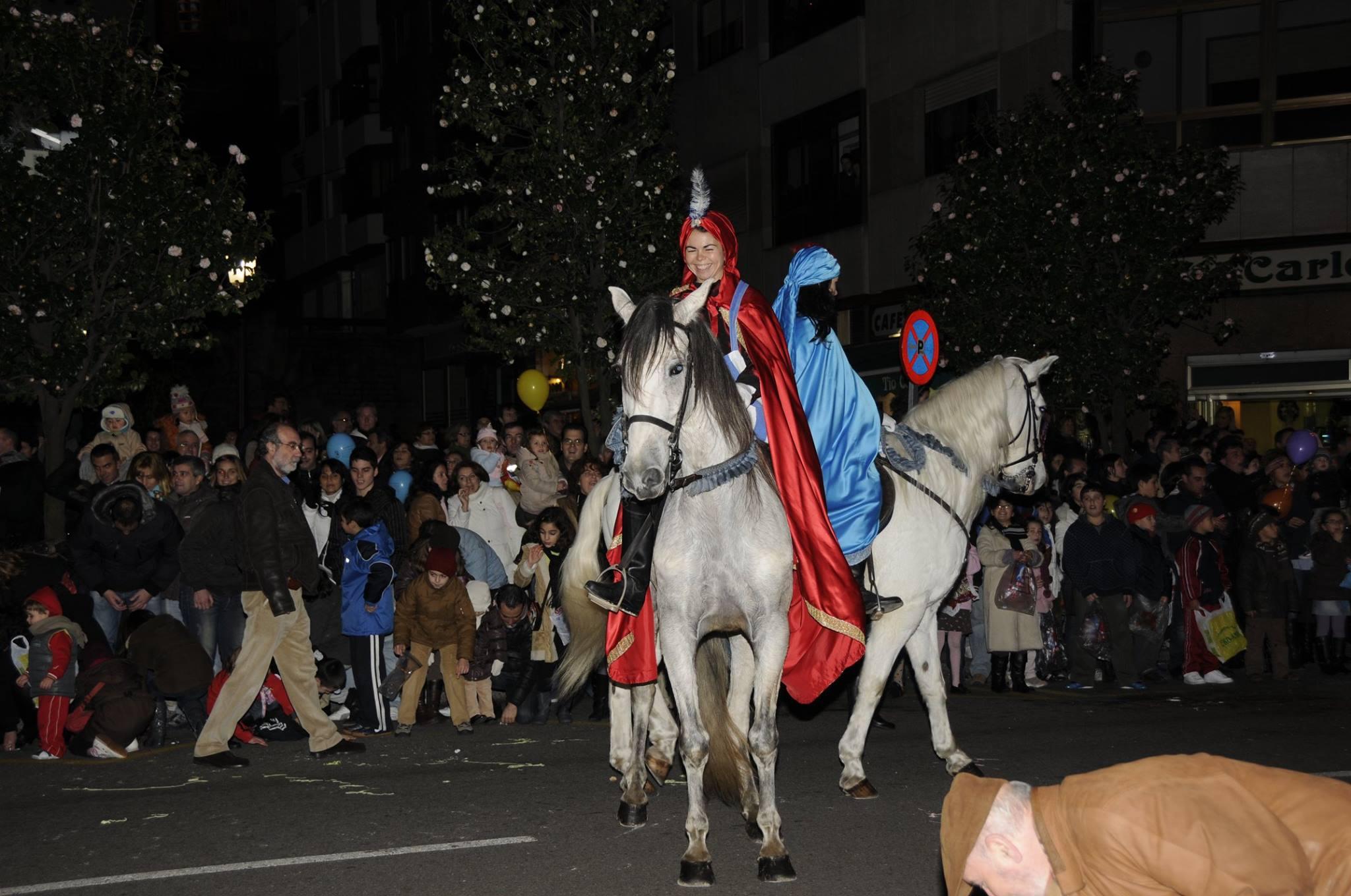 Nuestros caballos en las Cabalgatas de Reyes en Vigo
